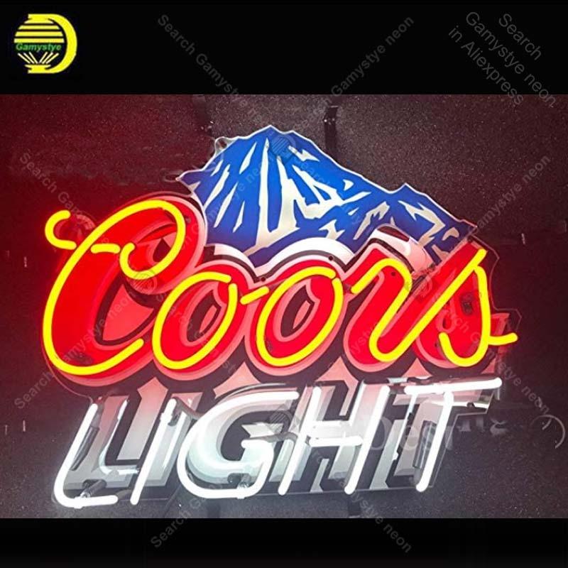"New Coors Light Mountain Beer Pub Bar Neon Light Sign 17/""x14/"""