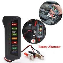 24 В Автоматический цифровой тестер батареи генератор 6 светодиодный светильник дисплей автомобиля диагностический инструмент для автомобилей мотоциклов батареи#30