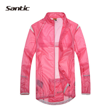 SANTIC Ladies Cycling Bicycle Bike Waterproof Jacket Rain Coat Windproof Full Sports Windbreak Cycle wear Sleeve Jersey
