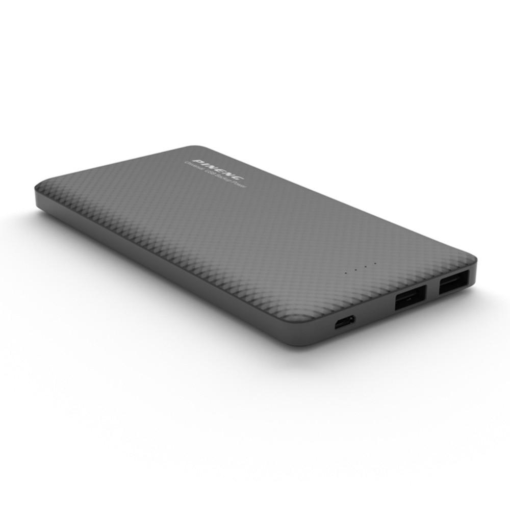 bilder für Original PINENG Energienbank 10000 mAh Tragbares Ladegerät mit Dual USB Ausgang Eingebaute Viberation Schalter PN-958