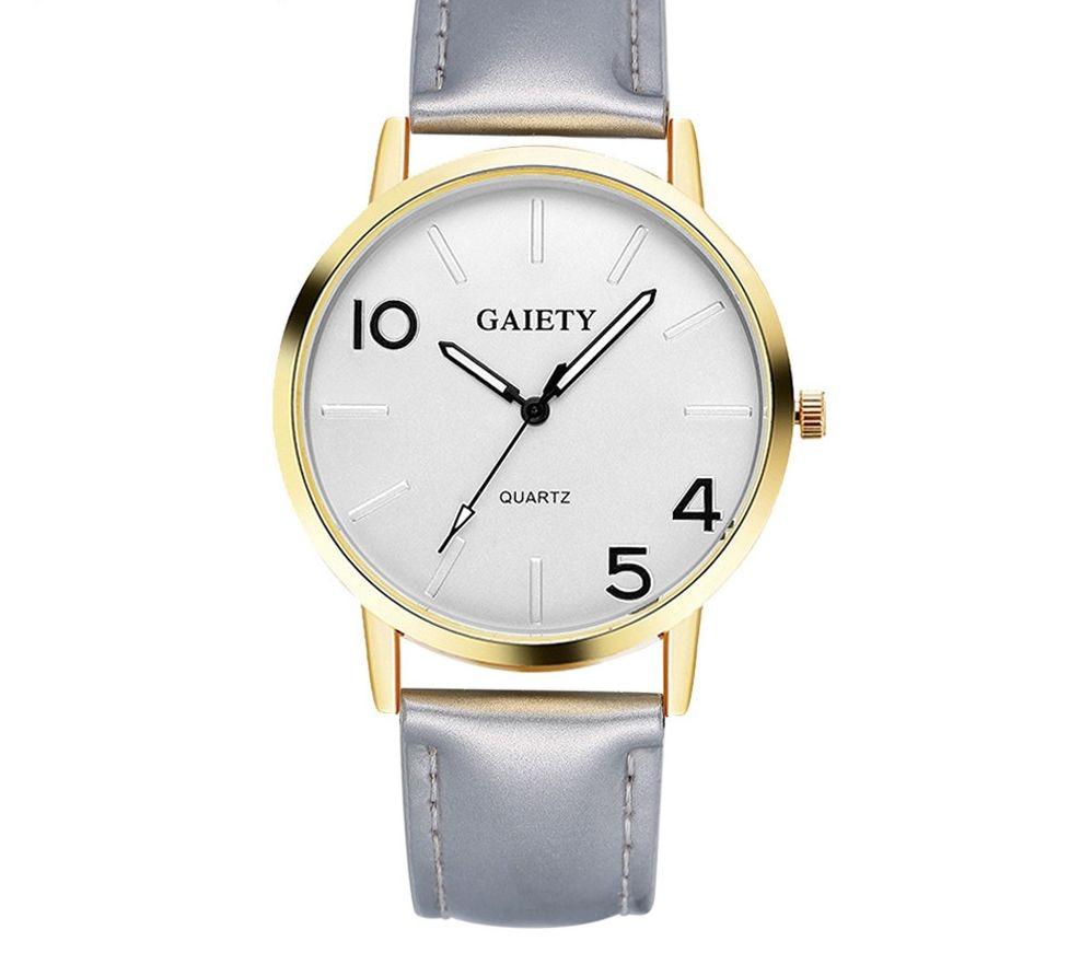 Women Fashion Leather Band Analog Quartz Round Wrist Watch Watches  452510