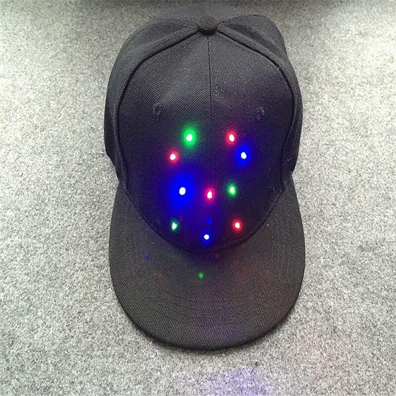 5bee6200202 LED Light Benn Baseball Cap Hip-hop Hat Men And Women Stage Personality  Glow M-30