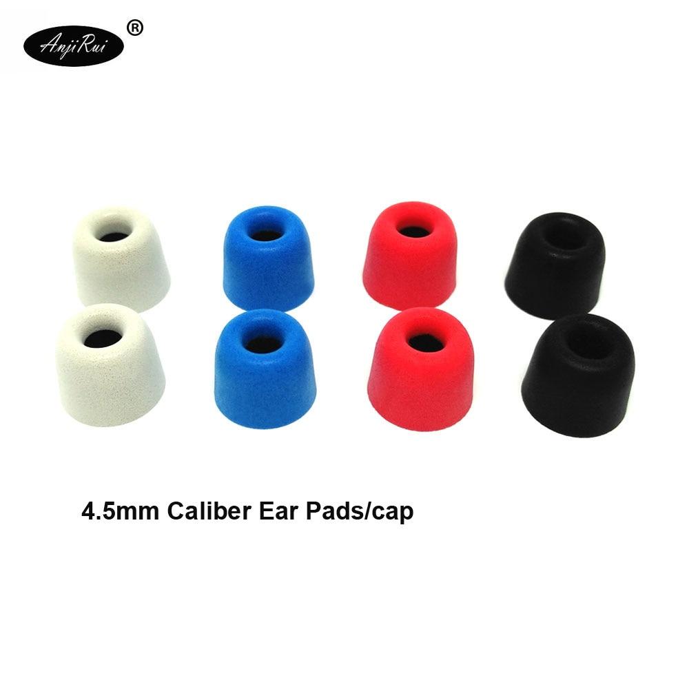 20pcs/10pair ANJIRUI T300 12.5mm 4.5mm Caliber Ear Pads/cap memory ear foam eartips for in ear Headphones tips Sponge Ear cotton