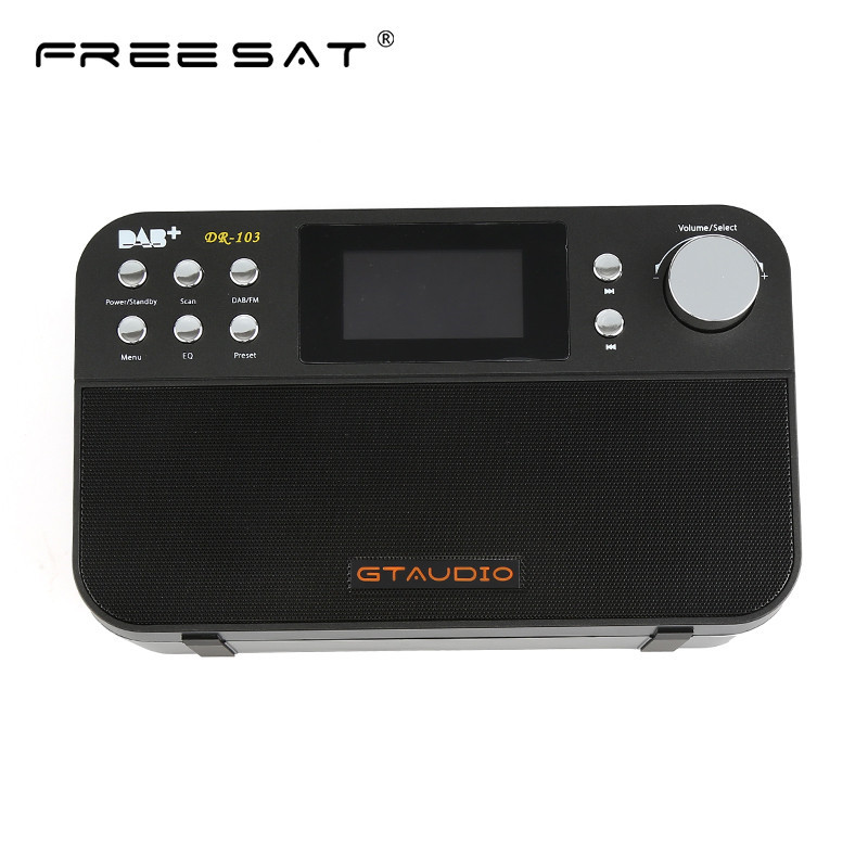 Freesat DR-103B DAB Receiver Portable Digital DAB FM Stereo Radio Receptor With 2.4 Inch TFT Black White Display Alarm Clock old version degen de1103 1 0 ssb pll fm stereo sw mw lw dual conversion digital world band radio receiver de 1103 free shipping