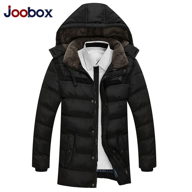 Korean Style Long Sleeved Casual Solid Mens Winter Coat With Pockets Zipper Jacket For Male Casacos De Inverno Erkek Kaban