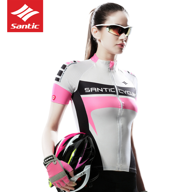 Free Transport Santic Girls Bike Clothes Biking Tracksuit for Girls GYM Health Sport Jersey MTB Professional Match Operating Prime Breathable Biking Jerseys, Low-cost Biking Jerseys, Free Transport Santic Girls...