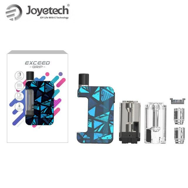 , Original Joyetech Exceed Grip Kit 1000mAh Pod System Kit 3.5ml EX-M 0.4ohm Head with EX-M 0.4ohm Head kit vape