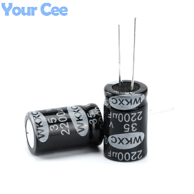 50 pcs Electrolytic Capacitors 2200UF 35V 16X25MM Aluminum Electrolytic Capacitor