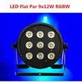 9x12 w 4em1 rgbw led luz de palco led plana slimpar quad pode com dmx512 plano dj controlador de equipamentos fast & free grátis