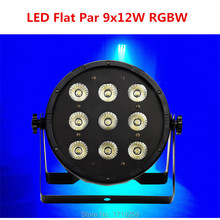 9x12W 4in1 RGBW Led Stage Light LED Flat SlimPar Quad Can With DMX512 Flat DJ Equipments Controller Fast&Free Shipping