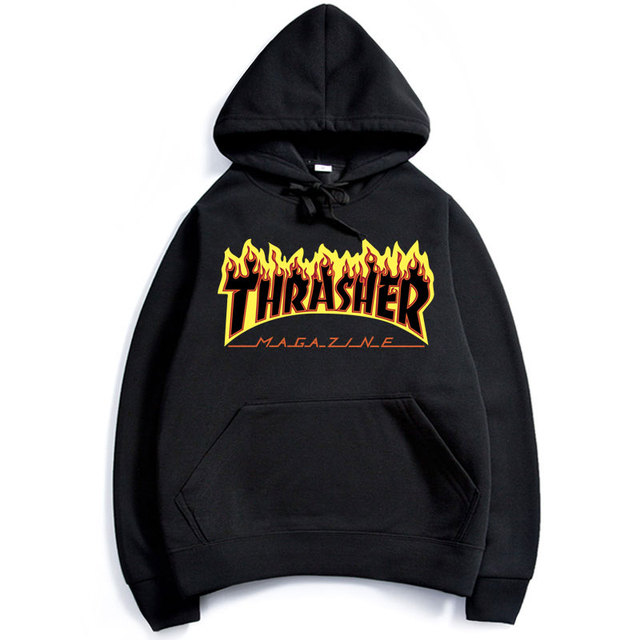 Thrasher Hoodie Hip Hop Men Thrasher Skateboard Flame Hoodies Sweatshirts Hooded Mens Skateboard Pullover Hoodies Men Clothing