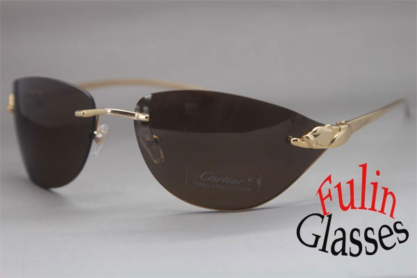 2a62fde718e5 Rimless Panther T8200632 Exquisite Sunglasses Frame Size 68 18 110mm ...