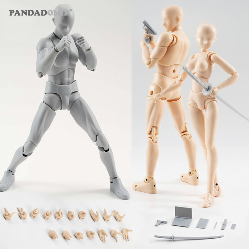 New Body Action Figure Reference Dolls for Drawing PVC Models Kids Toys Action Toy Figures Collectible Gift Toy Anime Girls Boys 2017 anime body kun body chan movable action figure model toys anime mannequin bjd art sketch draw collectible model toy