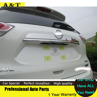 Stainless Steel Rear Trunk Lid Cover Trim 2014 2016 For Nissan X Trail High Quality Chrome
