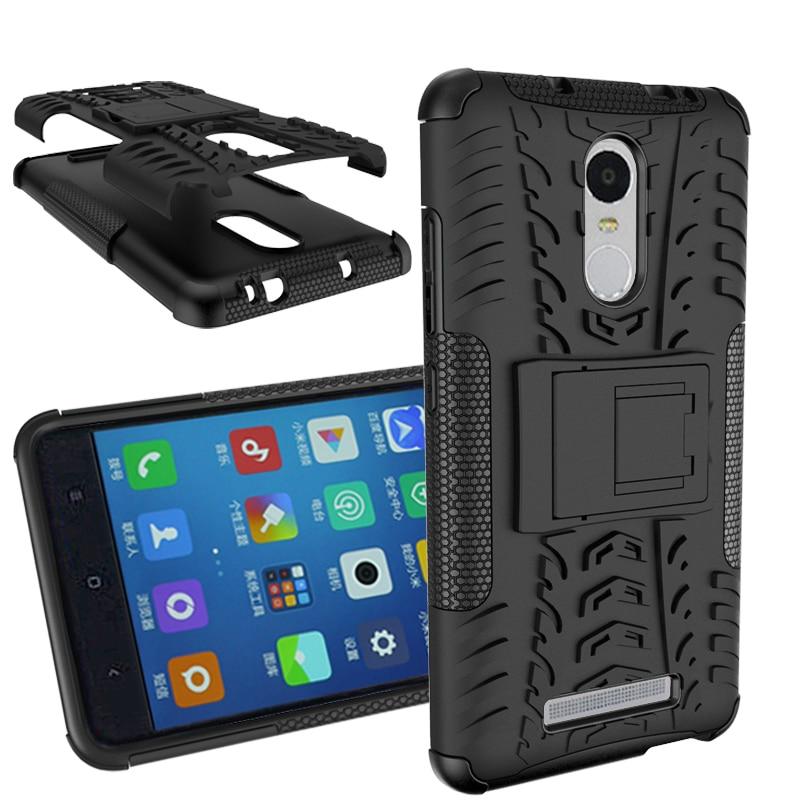 För Xiaomi Redmi Note3 Väskor Robust gummi Heavy Duty Armor Stand - Reservdelar och tillbehör för mobiltelefoner - Foto 1