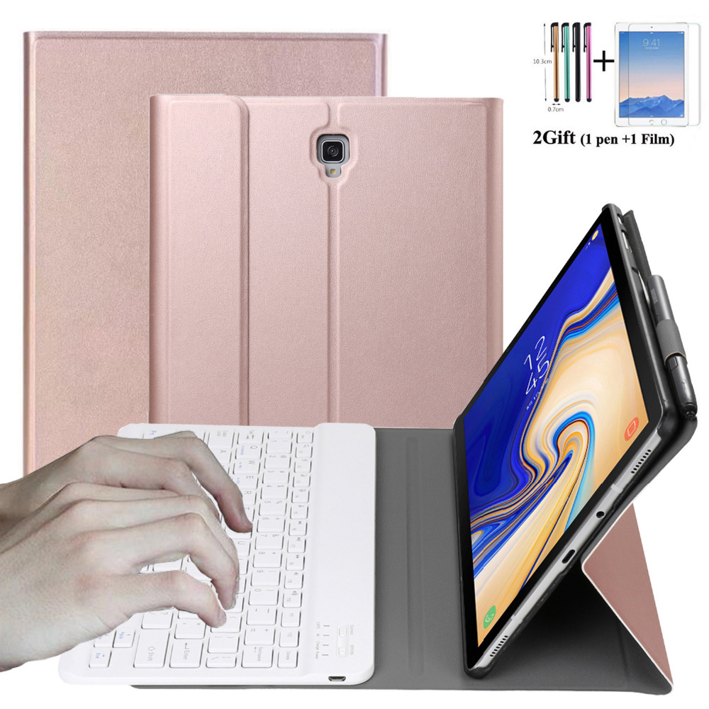 For Samsung Galaxy Tab S4 10.5 Case 2018 T830 T835 SM-T830 SM-T835 Detachable Bluetooth Keyboard Leather with Pencil Holder+giftFor Samsung Galaxy Tab S4 10.5 Case 2018 T830 T835 SM-T830 SM-T835 Detachable Bluetooth Keyboard Leather with Pencil Holder+gift