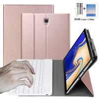 For Samsung Galaxy Tab S4 10.5 Case 2018 T830 T835 SM T830 SM T835 Detachable Bluetooth Keyboard Leather with Pencil Holder+gift