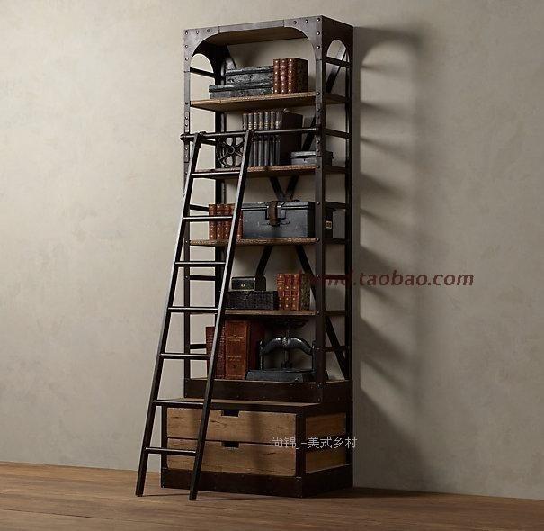 Dutch Exports Of Loft Style Vintage Retro Do Old Metal Bookcase Shelf