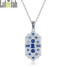 Lateefah Vintage Wedding Pendant Necklace for Women Luxury Art Deco Jewelry Colorful Cubic Zirconia Necklaces & Pendants Collier