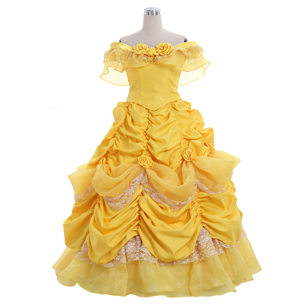 Belle Princess Dress Costume From 2017 Movie Beauty And