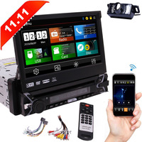7 inch Touch Screen Single Din Wince System Car GPS Player With Bluetooth USB SD Port Remote Control SWC Support multimedia