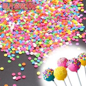 Image 1 - 10g Small Color Film Beads Edible Pearl Sugar Ball Fondant Diy Cake Baking Silicone Chocolate Decoration Sugar Candy Diy Clay