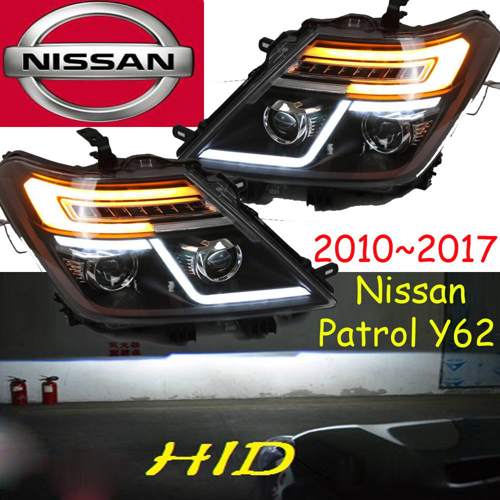 Patrol headlight,Y62,2010~2017,Free ship! Patrol fog light,2pcs,altima,titanTeana,Y61,Patrol front light,Patrol head light дутики patrol