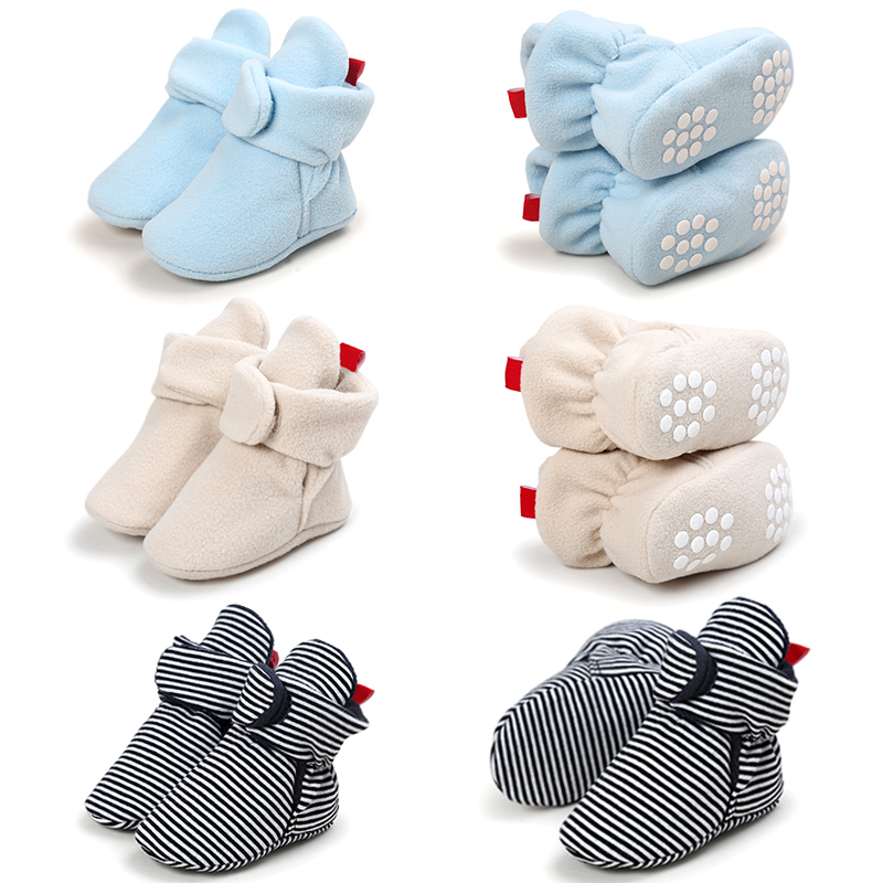 845c9382ffb0 Newborn Baby Boy Shoes Non Slip Unisex Winter Warm Baby Booties Soft ...