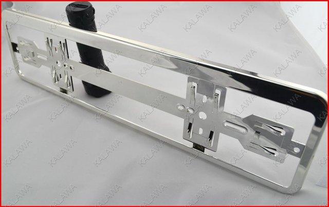 1 pair Austria car license frame (Chrome) Car licence plate  RoHS pro-environment  ABS FFF (FREESHIPPING)