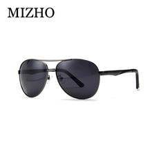 MIZHO HD de usar gafas de sol hombres polarizadas de aluminio IP vacío  Chapado en UV400 Polaroid gafas clásico con caja 0e42b63528dd