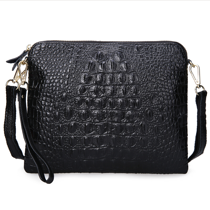 Prix pour Pour Crocodile jour embrayage femelle 2016 véritable peau de vache en cuir de mode d'embrayage de femmes d'embrayage sac femmes de sac à main croix-corps sac