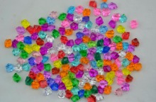 500g Beautiful Transparent Acrylic Irregular Beads With Hole For Hair Peice Tiaras Jewelry Scrapbooking Craft DIY