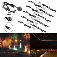 10pcs/lot LED Deck Light Outdoor Underground IP67 Waterproof Spotlight andscape Garden Patio Pathway Floors Stairs EU/US/UK Plug