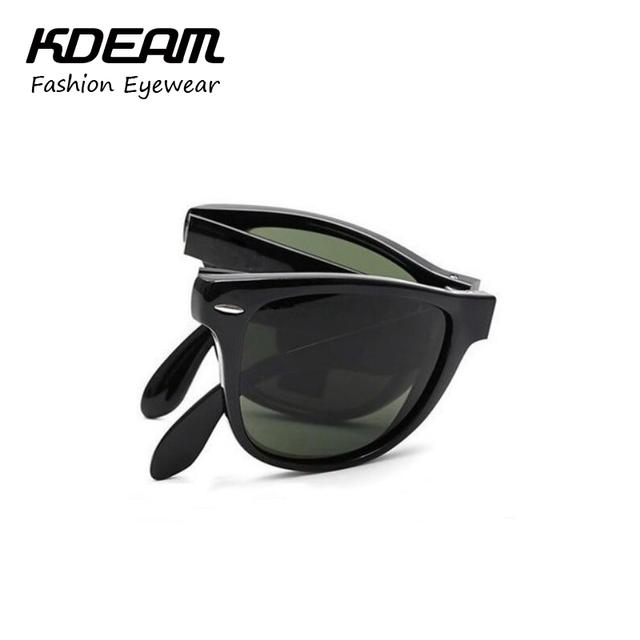 Kdeam PLEGADO Clásico gafas de Sol Polarizadas Hombres Polarizada G15 Lente Polarizante Gafas Mujeres Oculos Lunettes de Soleil KD401