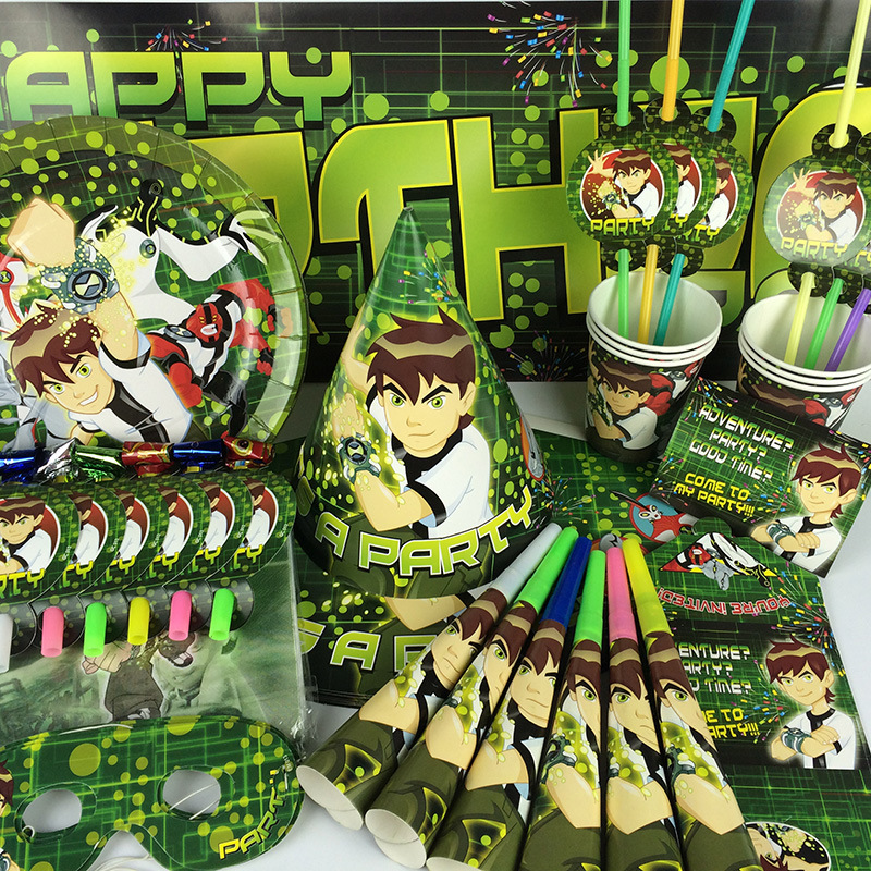 Party Supplies 78PCS For 6persons Ben 10 Theme Birthday