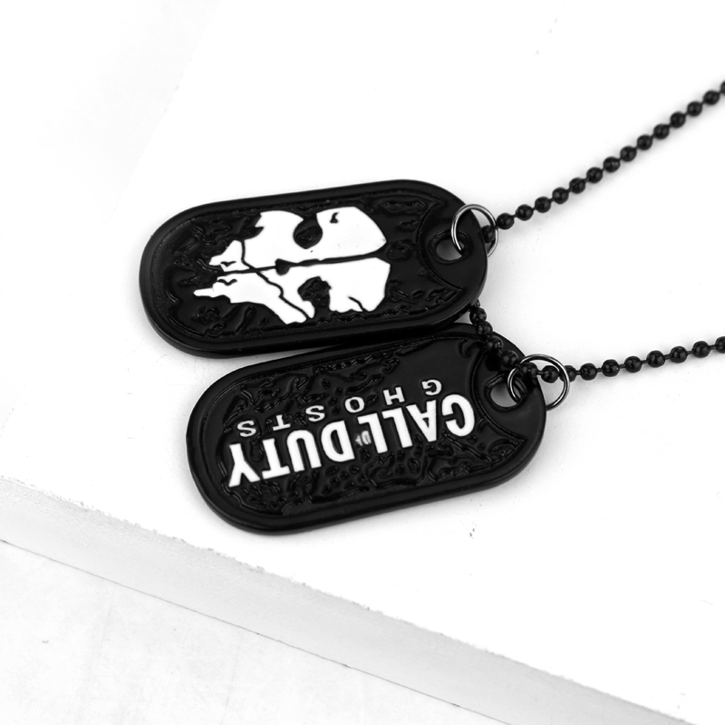dongsheng Fashion Jewelry Dog Tag Call Dutys Ghosts Necklace Pendant Ghosts Cosplay Titanium Steel Chain Dog Tag Necklace -30 ...