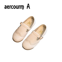Aercourm a 2017 autumn new kids leather shoes girls flat shoes girls sneakers solid color princess.jpg 250x250