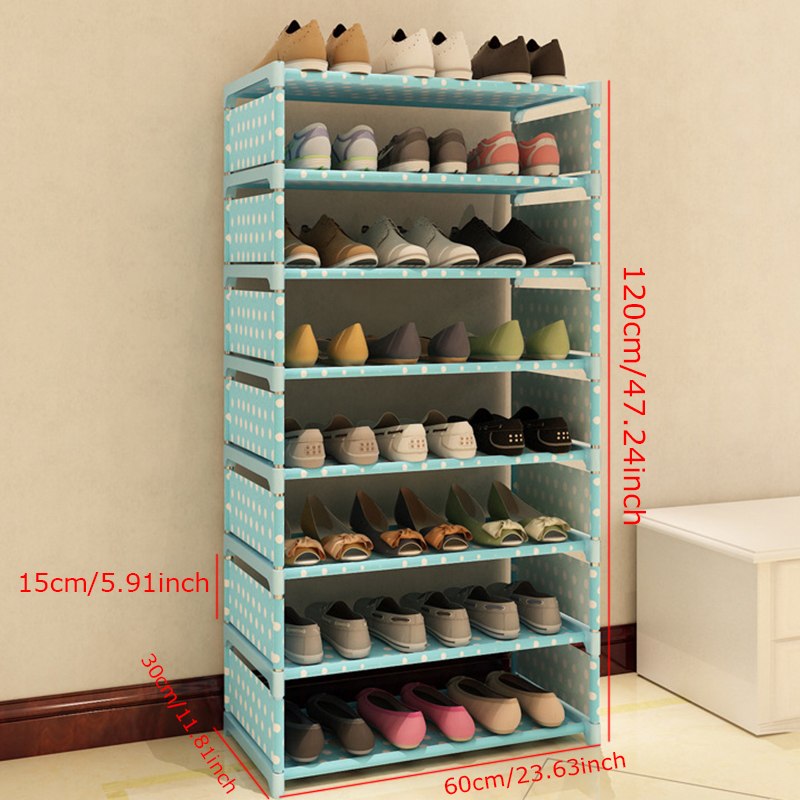 Home Furniture Furniture 3 Tier Non-woven Shoe Cabinets Shelves Simple Living Room Home Decorations Debris Storage Grade Products According To Quality