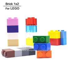Children Learning Toys Lego Compatible Plastic Building Bricks Blocks Education Toys 1*2 DIY Toys Set 19 Colors 100pcs/lot