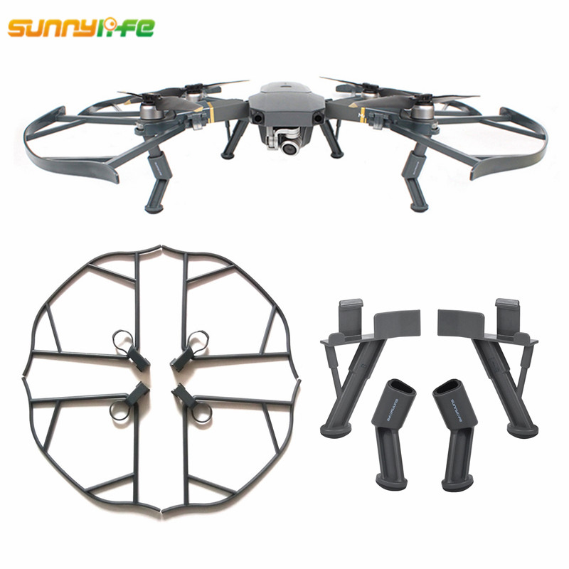 Sunnylife DJI Mavic Pro Platinum Alpine Upgrade Heighten Landing Gear Skid 40mm Propeller Guard Protection Blade Ring for Mavic
