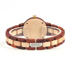 Image 4 - BOBO BIRD Two tone Wooden Watches Women Top Luxury Brand Lady Timepieces Quartz Wrist Watches in Wood Gift Box Dropshipping OEM
