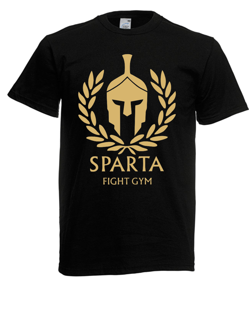 Herren T-Shirt Sparta Fight Gymer I I Fun I Lustig Bis3XL Short Sleeve Hip Hop Tee T Shirt Top Tee Cartoon Character