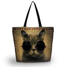 Новые интересные кошка мягкий женщин леди девушки сумка утилита сумка на молнии сумки складная бесплатная доставка