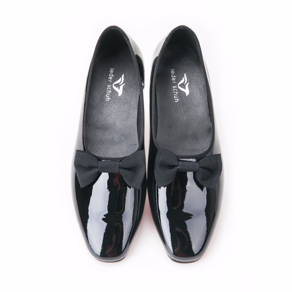 Nova Black Baile Schuh Banquete Borboleta Patente Artesanais Mocassins Preto Preta Shoes Finalistas E Gravata Moda De Jeder Com Vestido Couro Sapatas Do Homens q15wFH5xd
