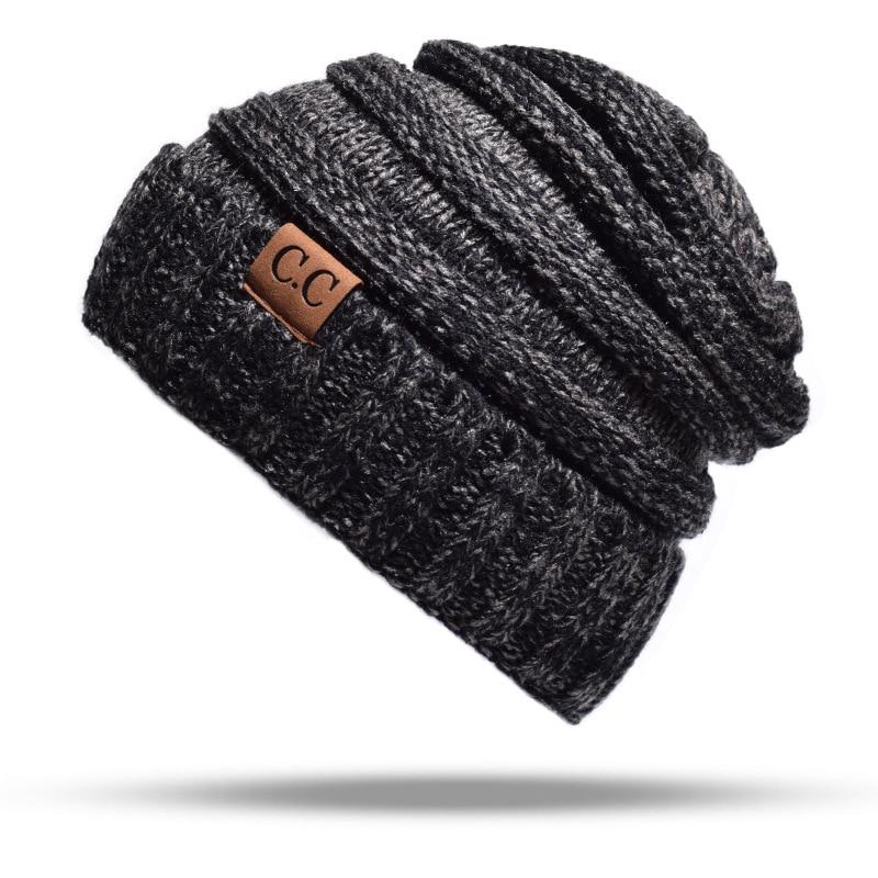 c81b9da8291c11 ... Brand Female Winter Ball Cap Pom Poms Winter Hat For Women Girl's Hat  Knitted Beanies Cap ...