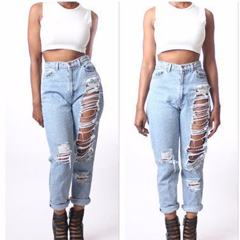 Aliexpress.com : Buy Ripped Boyfriend Jeans Women Distressed