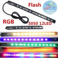 NEW 12V LED 7 Color Strip 12LED 5050 SMD Waterproof Flexible Light Led Tape RGB For
