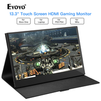 Eyoyo 13.3 EM13K LCD Portable 1920x1080 IPS Gaming Monitor compatible for Game Consoles PS3 Switch USB PC Screen hdmi display