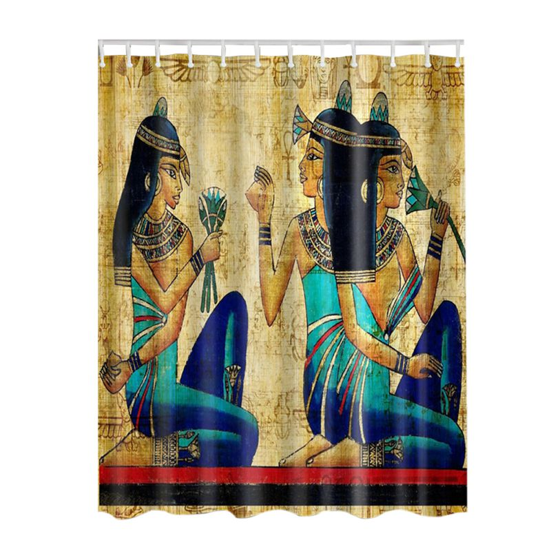 New Arrival 3D Decor Collection Nautical Colorful Seascape Picture Print Bathroom Set Fabric Shower Curtain with Hooks