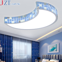 M Mediterranean LED Bedroom Ceiling Lamp 36W Led Strips Warm Romantic Girl Princess Children Room Moon